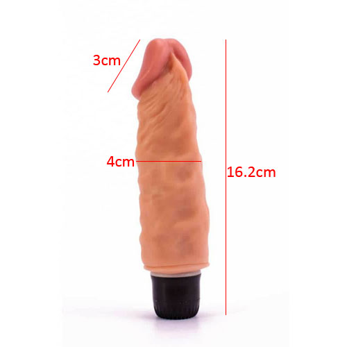 Lovetoy Real Feel Cyberskin Vibrating Dildo 6.5inch  - Wanta.co.uk